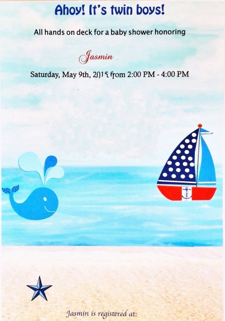diy nautical theme baby shower invitation