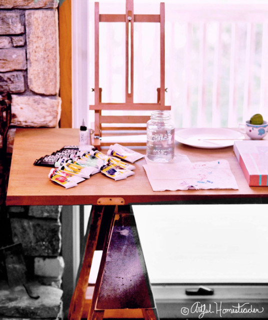homemade art studio